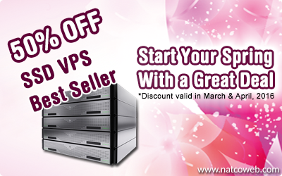 vps, dedicated, colocation promotion from Natcoweb